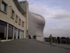 The building with the silver buttons